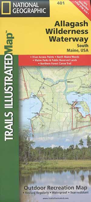 Allagash Wilderness Waterway South National Geographic Trails ... on