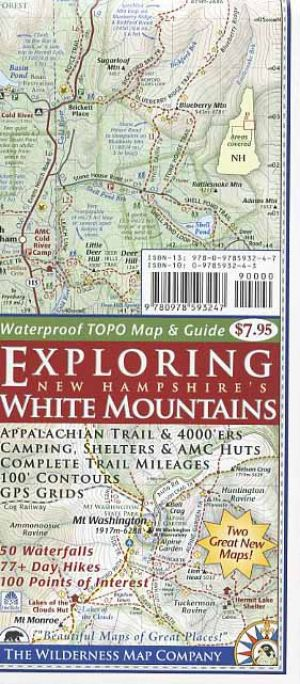 Exploring New Hampshire White Mountains Topographic Map & Guide