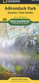 Adirondack Park: Saranac/Paul Smiths Topographic Map