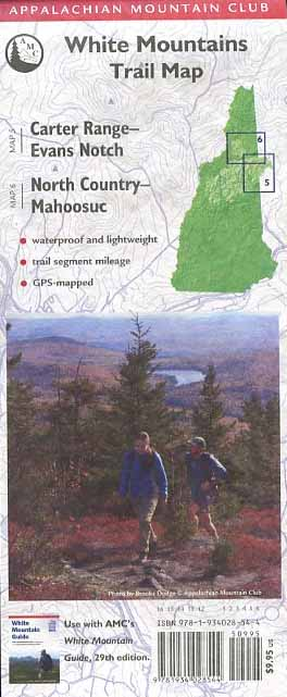 White Mountains Trail Map: Carter Range-Evans Notch & North Country-Mahoosuc