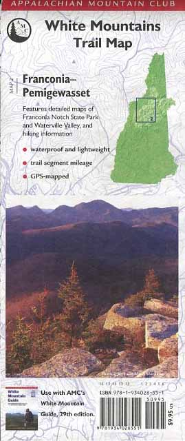 White Mountains Trail Map: Franconia-Pemigewasset