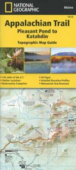 Appalachian Trail Map Guide: Pleasant Pond to Katahdin