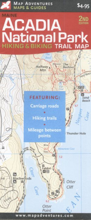Acadia National Park Hiking and Biking Trail Map