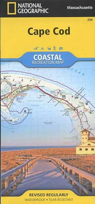 Cape Cod Coastal Recreation Map Book - Bondcliff Books