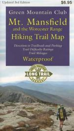 GMC Mount Mansfield and Worcester Range Hiking Trail Map