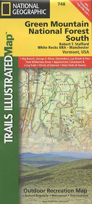 Green Mountain National Forest South Trail Map Book - Bondcliff Books