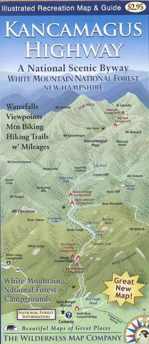 Kancamagus Highway Map Kancamagus Highway Map & Guide Book   Bondcliff Books