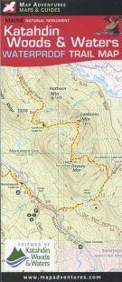 Katahdin Woods & Waters Waterproof Trail Map Book - Bondcliff Books