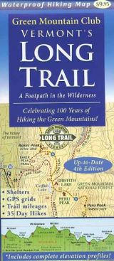 Waterproof Long Trail map