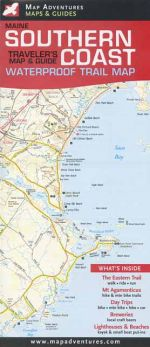 Waterproof Maine Southern Coast Traveler's Map and Guide