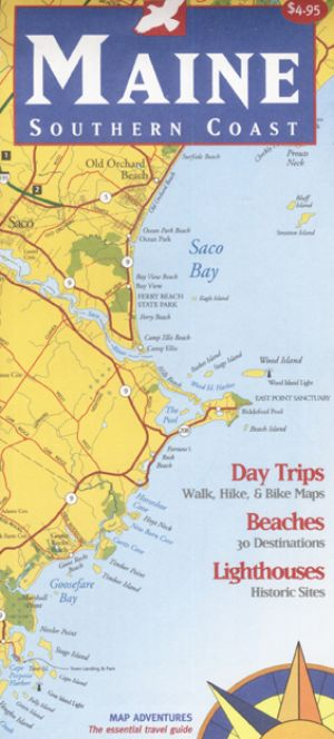 Maine Southern Coast Map Book Bondcliff Books