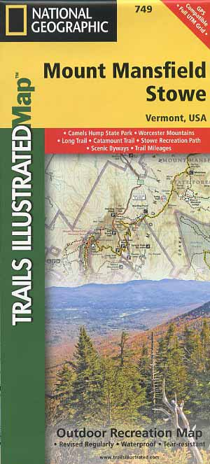 Trails Illustrated Mount Mansfield/Stowe map