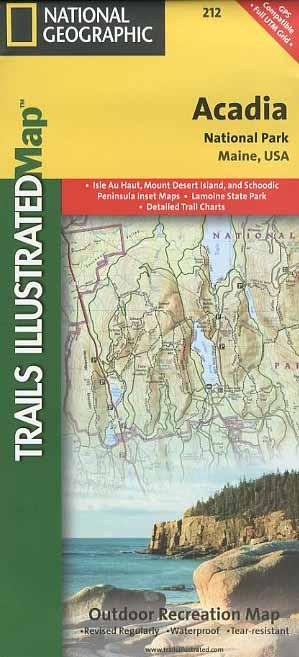 Acadia National Park Trail Map Book - Bondcliff Books