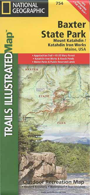 Baxter State Park Outdoor Recreation Map
