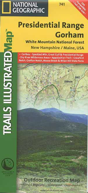 Presidential Range and Gorham Trail Map