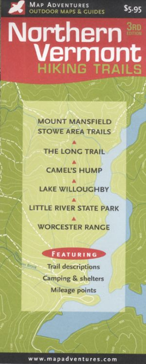 Northern Vermont Hiking Map Book - Bondcliff Books