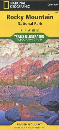 Topographic Map Rocky Mountains.Rocky Mountain National Park Topographic Map Book Bondcliff Books