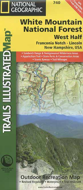 Trails Illustrated White Mountain National Forest (West Half) map