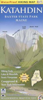 Waterproof Katahdin Trail Map