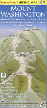 Waterproof Mount Washington Trail Map