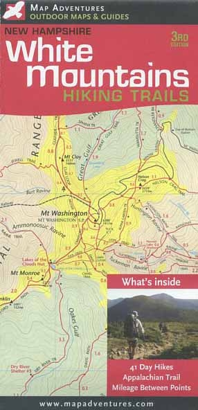 White Mountain Hiking Trails Map (3rd edition)