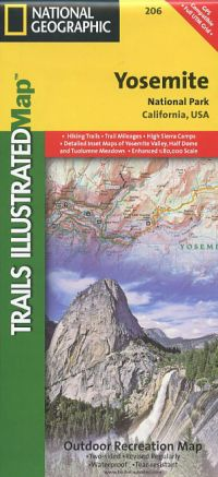 Yosemite National Park Topographic Map Book Bondcliff Books